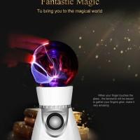Magic Mini Plasma Ball Light Flash Music Speaker Portable
