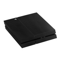 9Skin -Premium Skin Protector Case Playstation 4 PS4 PS3 Black Leather