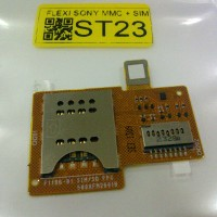 Fleksibel/Flexible Connector Simcard+Mmc Sony Experia Miro St23