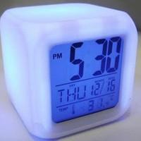 Jam Moody 7 Warna Jam Alarm Jam Weker Jam Digital Ganti Warna Otomatis