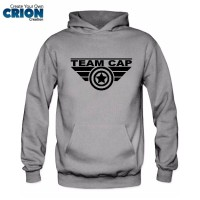 Jaket Sweater Hoodie Captain America Civil War - Team Cap - By Crion