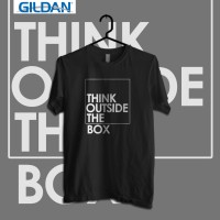 Think Outside The Box - Kaos Quotes Original Gildan