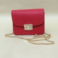 Small Handbag Tas Kecil Satchel Pouch Clutch Furla Red Merah