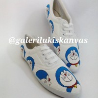 harga Sepatu Kanvas Tali Lukis Doraemon Tokopedia.com