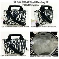 kipling tenteng original sugar handbag black white line garis zebra