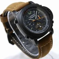 Jam tangan Luminor Panerai Regatta Black Tourbillon Leather
