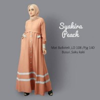 syakira peach dress gamis bolotelli baloteli