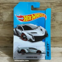 HOT WHEELS LAMBORGHINI VENENO SILVER HW CITY 37/250 SPEED TEAM