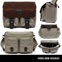 Jual Tas Kamera / Messenger Camera Bag / Sling Bag HONX 008 KHAKI Murah