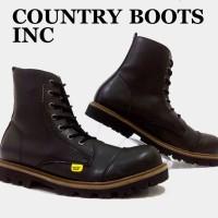SEPATU BOOT FULL BLACK PRIA - COUNTRY BOOTS ORIGINAL MURAH PROMO