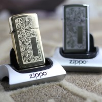 Zippo Slim Original Venetian High Polish Brass 1652B