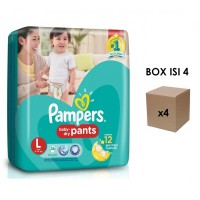 harga Pampers Popok Baby Dry Pants - L 26 - Karton Isi 4 Tokopedia.com
