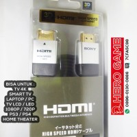 Jual KABEL HDMI SONY -  CABLE HDMI TO HDMI - GOLD PLATE Murah
