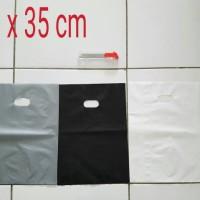 Kantong Plastik Shopping Bag Online Shop HD Plong 25x35 Pilih warna