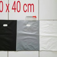 Kantong Plastik Shopping Bag Online Shop HD Plong 30x40 Pilih warna