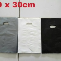 Kantong Plastik Shopping Bag Online Shop HD Plong Polos Pilih warna