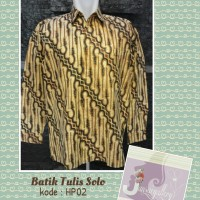 Kemeja batik tulis asli solo
