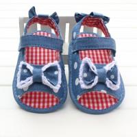 Sepatu Bayi : Prewalker PW 22 Light Blue Ribbon