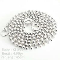 Kalung Wanita Biji Lada Polos Silver Perak 925 Asli