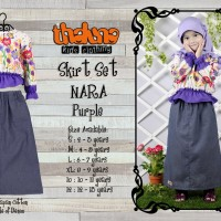 Skirt Set NARA Purple (Plus Jilbab), Size 10 & 12 , Thaluna, Murah