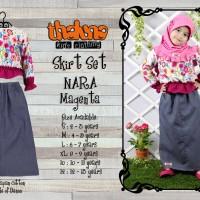 Skirt Set NARA Magenta (Plus Jilbab), Size 10 & 12 , Thaluna, Murah