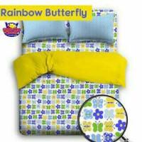 Sprei anak murah Rainbow Butterfly