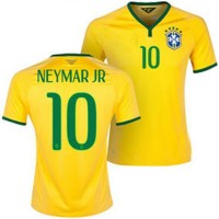 Jersey Sepakbola CBF Brazil No 10 Neymar Jr Size L - Yellow