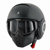 harga Helm Shark Raw Black Doff Solid Half Full Sporty Original Goggle Tokopedia.com