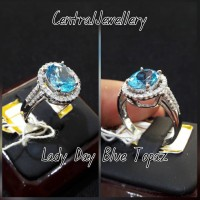 cincin lady day blue topaz natural berlian eropa