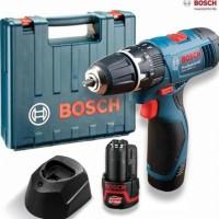 Unit Bor Cordless Set, Obeng Tanpa Kabel BOSCH GSR 1080-2-Li