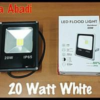 harga Lampu Sorot LED/Lampu Tembak LED/LED Flood Light 20 Watt White (Putih) Tokopedia.com