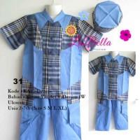 Baju Koko Anak Labella (Usia 2 - 7th) KA27-Denim No.31