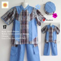 Baju Koko Anak Labella (Usia 2 - 7th) KA27-Denim No.17