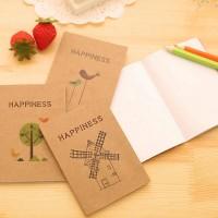 Buku Imut Polos - Happiness Plain Pocket Notes
