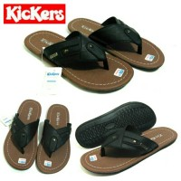 Sandal Jepit Cowok Kickers Hitam / Sandal Jepit Pria Kickers Hitam