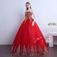 Gaun Pengantin Merah Wedding Gown Wedding Dress 2016 05001