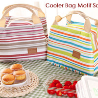 harga Cooler Bag Motif Salur (dilengkapi 2 pcs jelly ice cooler) Tokopedia.com