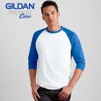 Jual Kaos Polos Import Gildan 76700 Raglan 3/4 Murah
