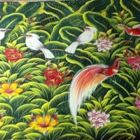 harga Lukisan Super Besar Burung Jalak (Large Jalak Bird Painting) Tokopedia.com