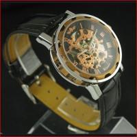 Jam Tangan Kulit Classic Winner Skeleton Mesin Otomatis Classic Luxe