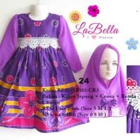 harga Baju Gamis/Muslim Anak Labella (Usia 7 - 11th) SB102-CR3 Ungu No.24 Tokopedia.com