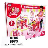 mainan trolley belanja trolly market KIDS SHOPPING 3 in 1 murah