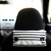 Tissue Box / Tempat Tisu Mobil Stripe WhiteNavi