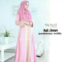 Baju Muslim Wanita Anne Lady Pink Style Grosir Bandung Murah