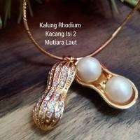 Kalung Mutiara Air Laut Lombok Dan Kalung Rhodium Asli