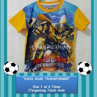 *Kaos Karakter Baju Anak Cowo Motif Kartun TRANSFORMER 1-6th*