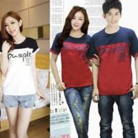 Kaos Couple pusple / Baju Pasangan harga sepasang