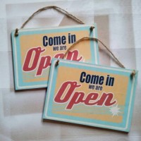 open sign  / sign board