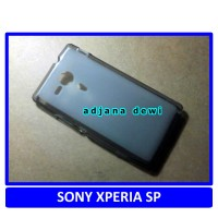 Silikon Case Sony Xperia SP M35H / C5302 Hitam Transparan