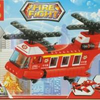 K Lego Fire fight 3 in 1 (inc 1 minifigure + instruction book)